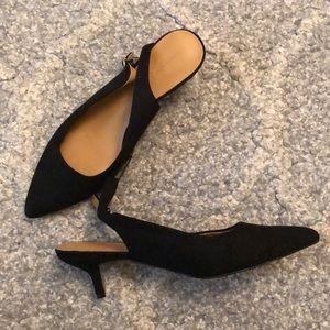 NWT Banana Republic sling black kitten heels